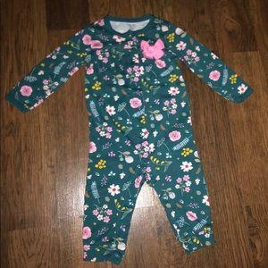 Floral onesie pajama for babygirl